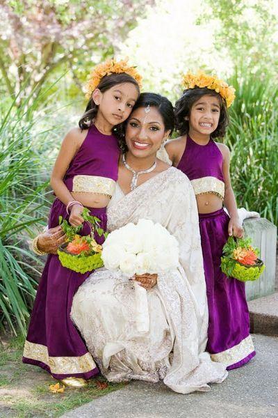 indian flower girl dresses | Our Big Fat Brown Wedding: It's Portrait Time