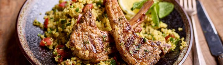 LAMM. EINFACH LECKER LOS - Lammkoteletts mit Sumach und Quinoa-Salat