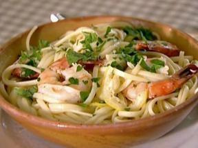 : Dinners Tonight, Food Network,  Hotpot, Barefoot Contessa, Super Easy, Shrimp Dinners, Shrimp Scampi Recipes, Linguini, Ina Garten