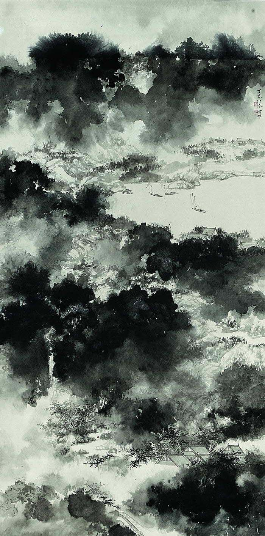 Koon Wai Bong(管偉邦 Chinese)  Mountains after rainMountain Wan, Wai Bongs 管偉邦, Fabulous Art, Kooning Wai, Wanfungcom Mountain, Bongs 管偉邦 Chinese, Bongs Mountain, Wai Bong管偉邦, Chine Painting