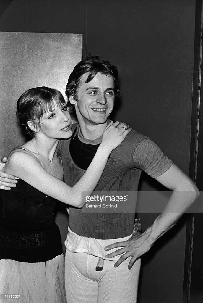 American Ballet Theatre dancers Gelsey Kirkland (left) and Mikhail Baryshnikov, a principal with the company, in 1975.