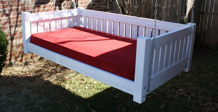 Brand New Painted Victorian Daybed Swing Twin Mattress Swinging Day Bed Swings | eBay