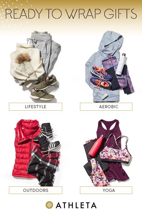 Here at Athleta, we've made gifting easy with these handpicked gifts.  Select from a variety of pre-styled outfits that she'll love.  From workout gear to outerwear to accessories, you'll find something she's sure to adore this holiday season.