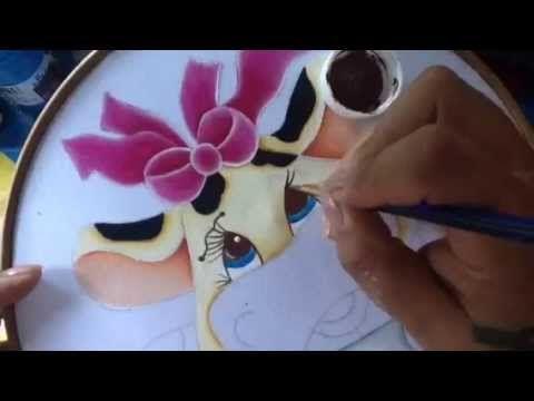 Pintura en tela vaquita # 4 con cony - YouTube