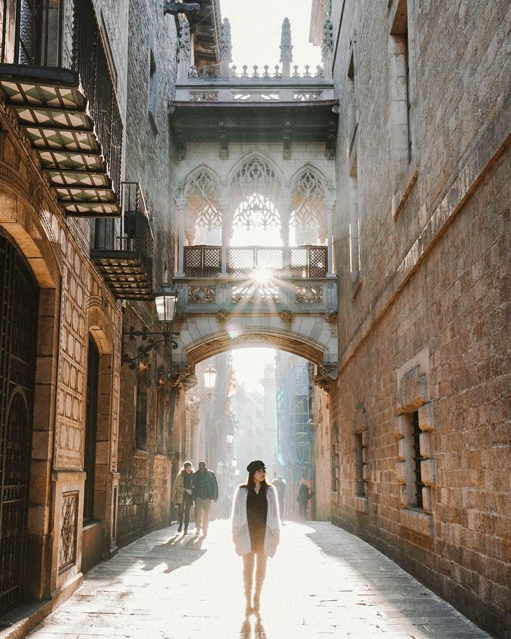 Morning light in Barcelona Nothing quite like being back in these streets and this time with my husband @traviswright . For the last 24 hours we've been making our way through El Born hopping into cafes eating through various food groups and soaking it all in.