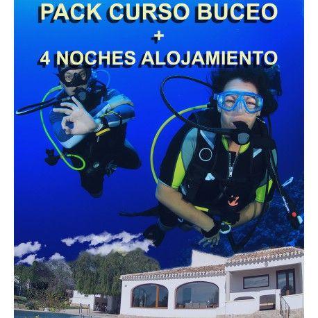 Pack Curso Buceo + 4 noches alojamiento