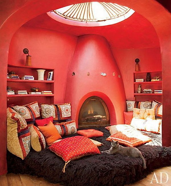 In this fireside alcove. | Community Post: 44 Amazing Places You Wish You Could Nap Right Now