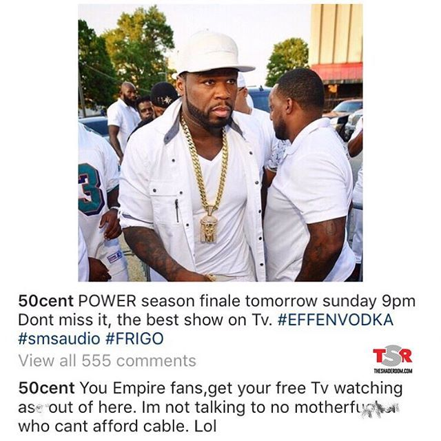 Meanwhile 50Cent is in his comments getting back at the Empire fans 😩 Power Starz