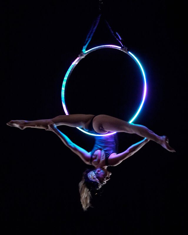 Light up aerial hoop!!
