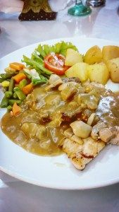 Combo Chicken & Beef Steak with Mushroom Sauce @ Toko Oen, Semarang, Central Java, Indonesia