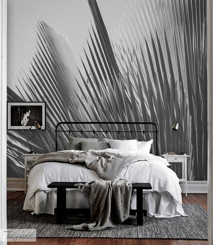 Make your room unique! Palm wallpaper is the perfect idea to decorate your homearea!/ Chcesz urządzić swój dom z pomysłem? Fototapeta z tym wzorem, wypełni Twój pokój spokojem i nada mu orginalny i przytulny klimat. #fototapeta#botanic#wallpaper#design#homedecor#homedesign#interior#cozy#room#forest#calm