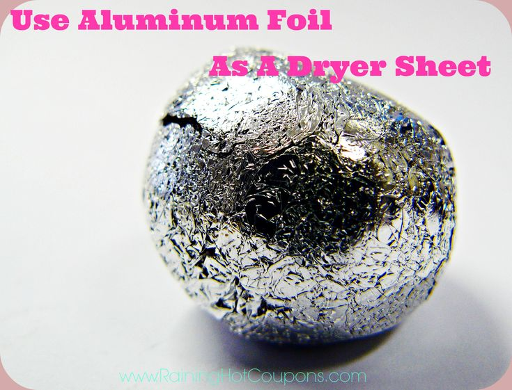 I do this and I add a few drops of my favorite essential oil for a scent. Works awesome! How To Use Aluminum Foil As A Dryer Sheet - Raining Hot Coupons