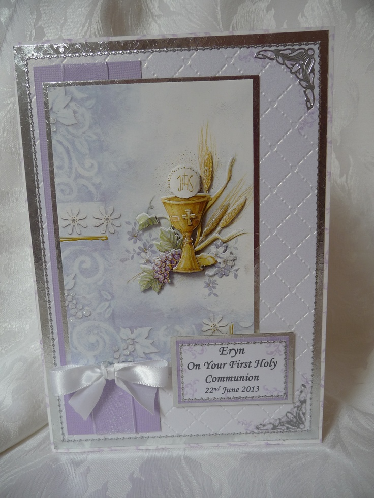 www.paulascardcreations.com A5 Personalised Holy Communion Card.  £3 +P