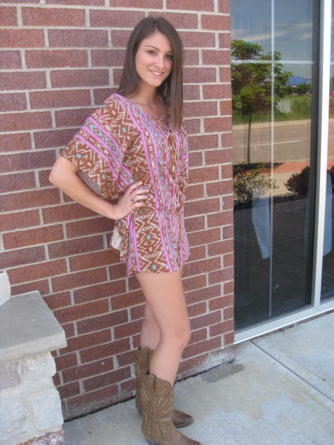 6f6967d8b61 Great Romper To Wear With Cowboy Boots!