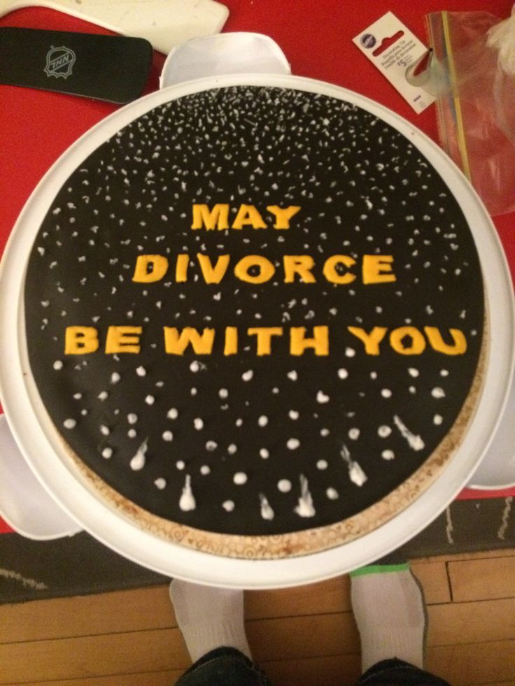 Star Wars divorce cake