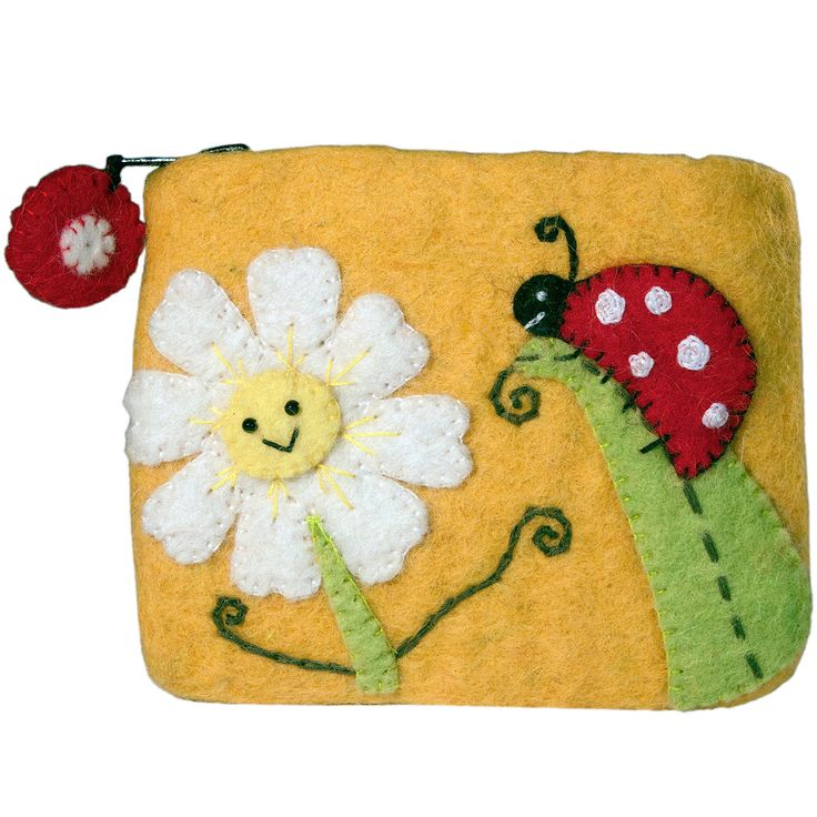 Felt Coin Purse - Daisy Ladybug - Wild Woolies (P)