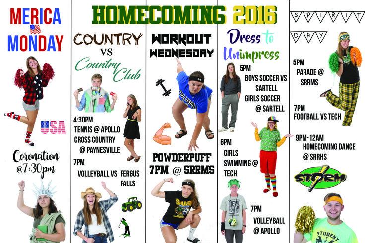 Homecoming Dress Up Days Poster Student Council High School Dress up Week