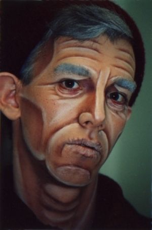 Old age make up design. Good for audience at a distance. Intense contouring.                                                                                                                                                     More