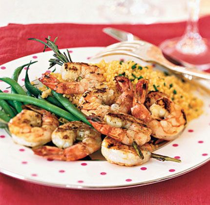 romantic dinner ideas rosemary shrimp scampi skewers easy dinner