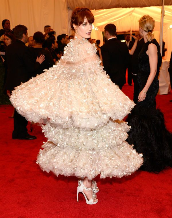 Florence Welch in Alexander McQueen at the 2012 Met Gala. This is what happens when you put the right girl in the right dress: magic.   - MarieClaire.com