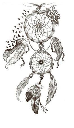 I want this as a little tattoo, maybe on my wrist. So instead of hanging up a Dream Catcher i can remember my little tattoo will give me good dreams.