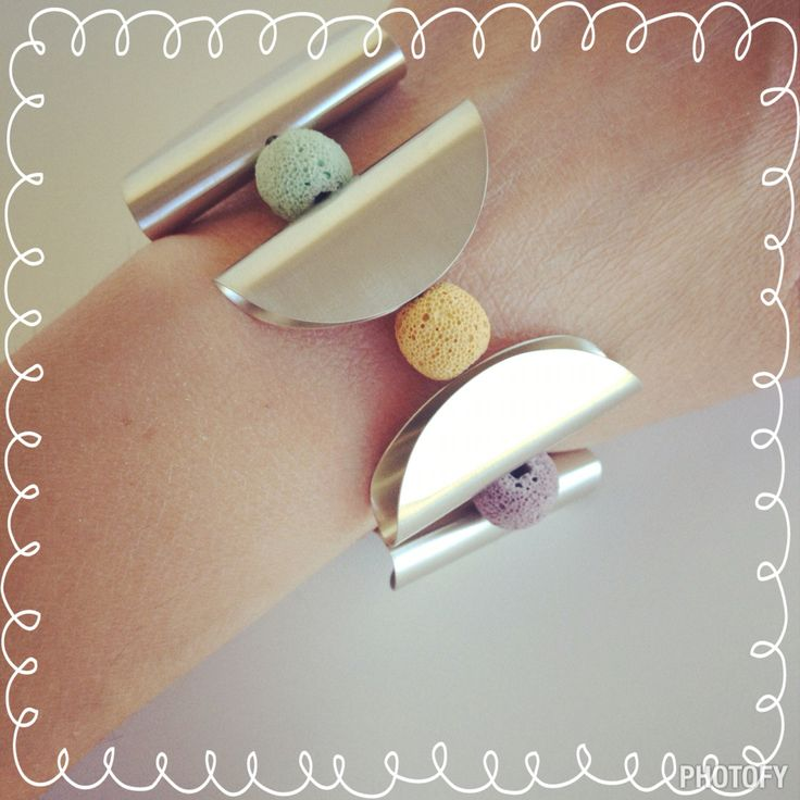 Azande and Lava stone bracelet