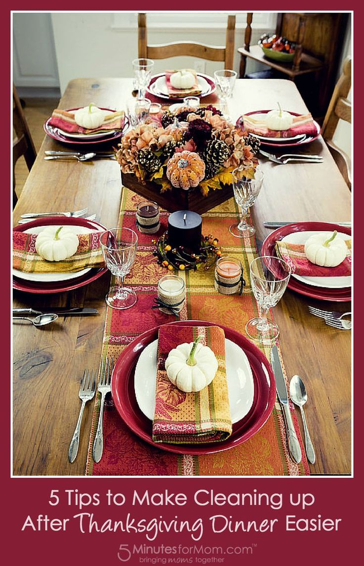 5 tips to make cleaning up after thanksgiving dinner for Best things to have for thanksgiving dinner