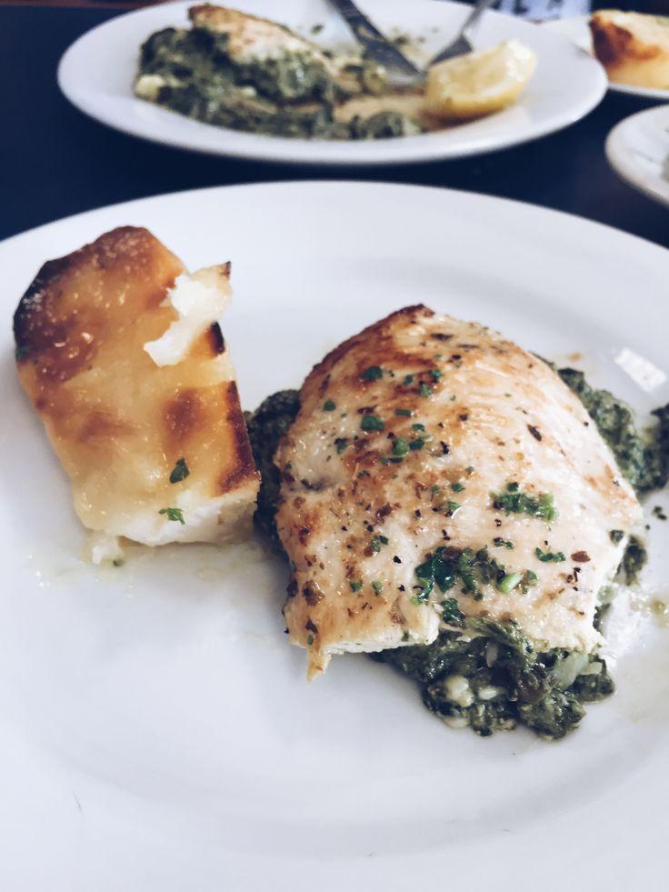 Athenian Chicken at Santorini Greek Cuisine. DeLand, Florida