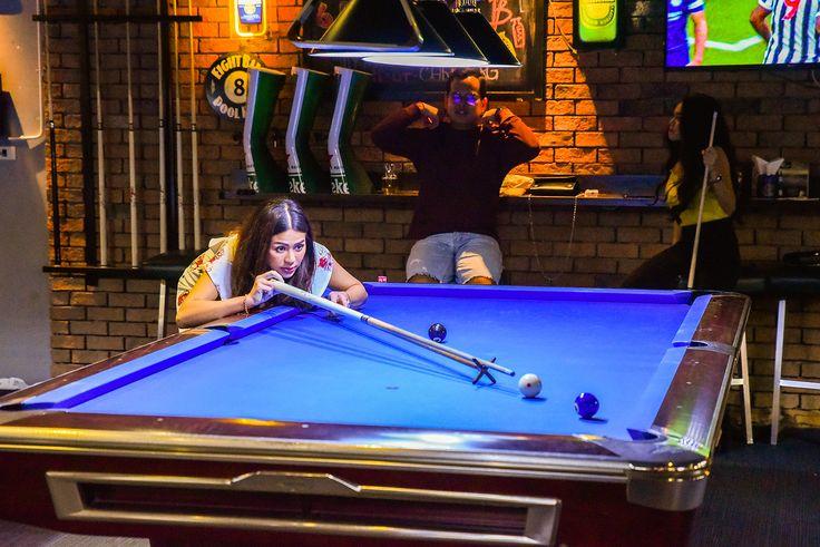 Bangkok billiard break cue ball frame pocket pool pot rack