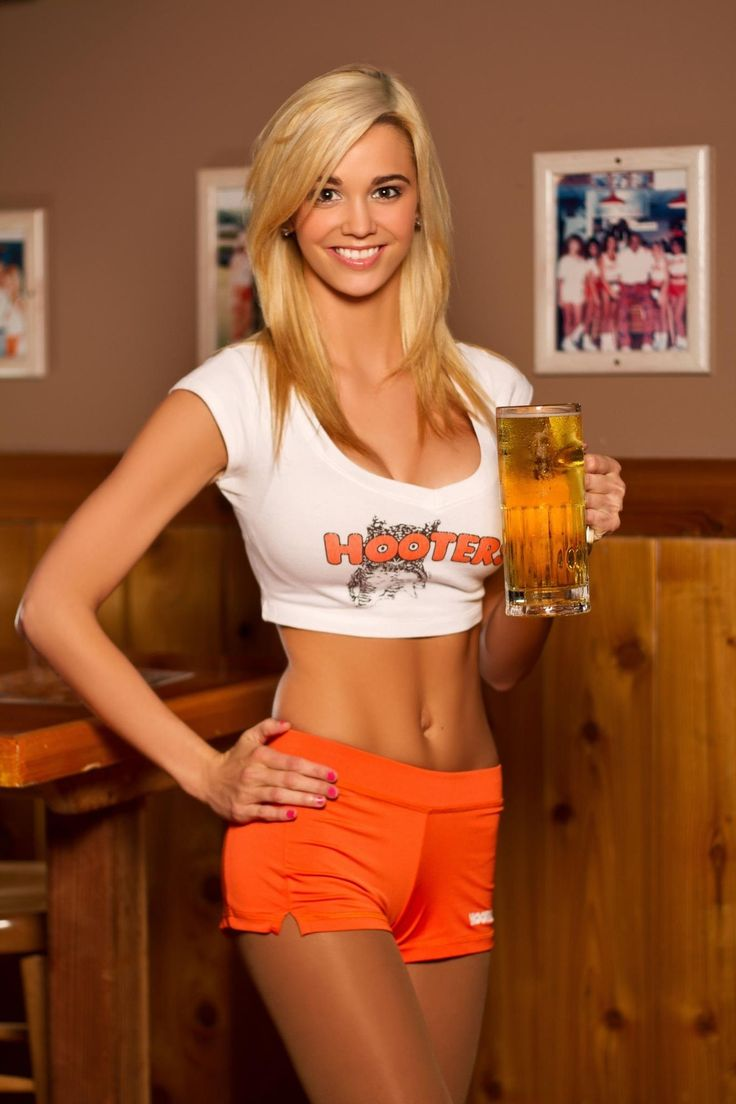 Hooters girls magnet refrigerator locker glossy sexy man cave server waitress