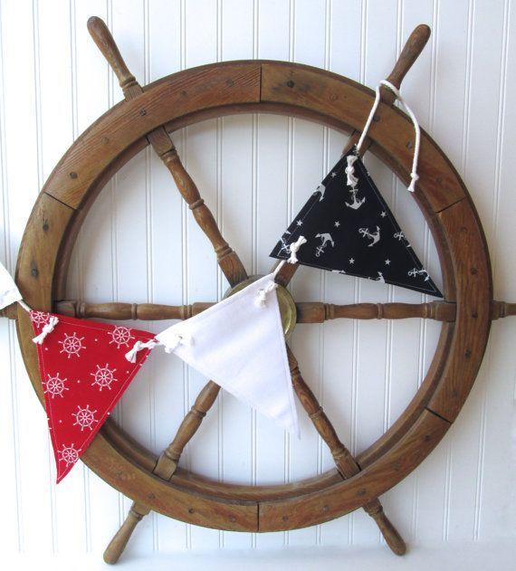 nautical nursery nautical decor beach house by whimsysweetwhimsy, $30.00