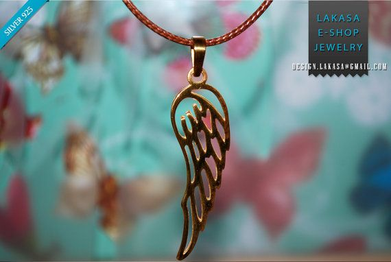 wing angel sterling silver gold plated pendant jewelry gifts children love mother name day woman unisex men jewellery christmas BEST PRICE