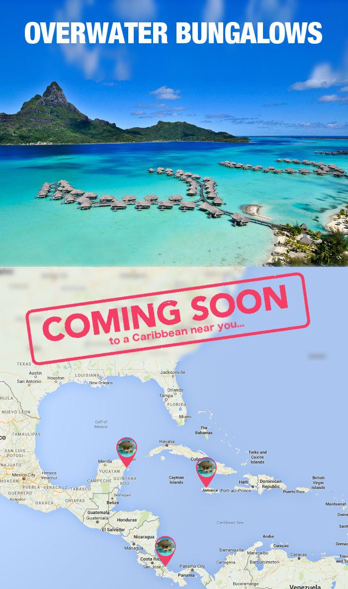 Overwater Bungalows - coming soon to the Caribbean! See which 3 locations, how much they'll cost, and more details here:  http://blog.shipmateapp.com/overwater-bungalows-caribbean/