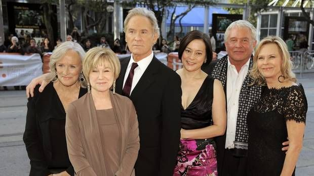 "I love ""The Big Chill""!! Cast members, from left, Glenn Close, Mary Kay Place, Kevin Kline, Meg Tilly, Tom Berenger and JoBeth Williams pose before a reunion screening of the 1983 film ""The Big Chill"" at the 2013 Toronto International Film Festival, Sept. 5, 2013 in Toronto. (Chris Pizzello/AP)"