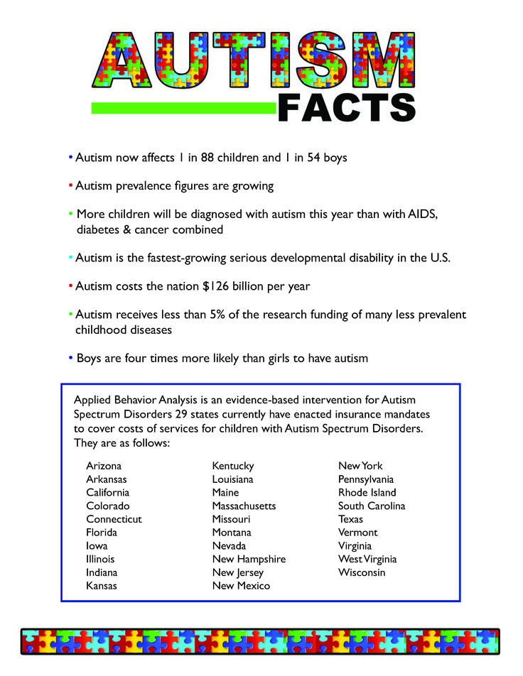 "autism fact sheet Emory autism center: ""characteristics of autism and the pervasive developmental disorders (pdd)  ""autism spectrum disorder fact sheet."