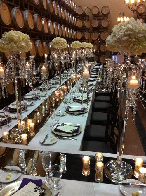 An Exceptionally Winery Soiree Wedding Likes Pinterest Decorations And Table