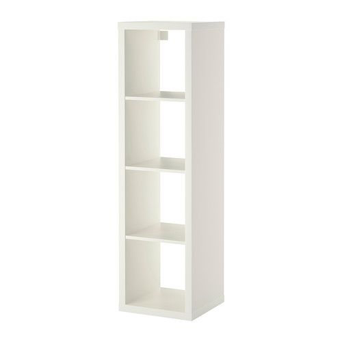 With openings up and down. I like the idea of painting the inside for fun....$60 Mirrors on one side, ikea spice racks for books on other....KALLAX Shelving unit, white white 16 1/2x57 7/8