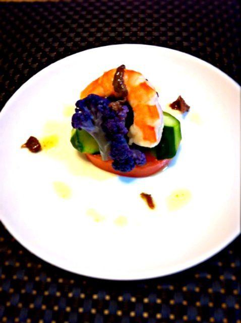 シンプルに。 - 58件のもぐもぐ - 紫カリフラワーのサラダ アンチョビオイル by critters