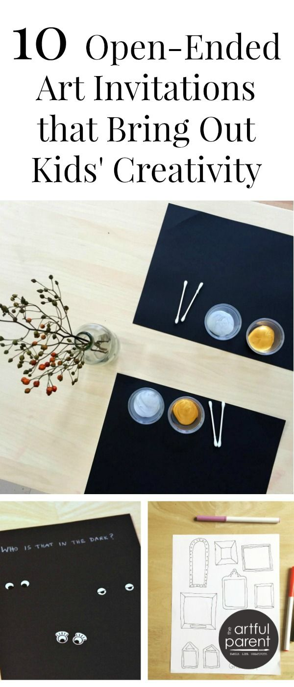 10 Invitations to Create for Children - Simple and enticing art set-ups that encourage creativity (and keep the kids engaged!)