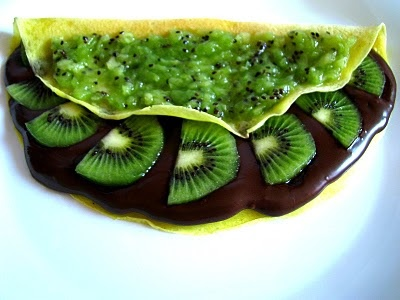 Crepes with Nutella and Kiwi | oolala....NUTELLA | Pinterest