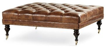Plantation Ottoman - traditional - ottomans and cubes - Masins Furniture