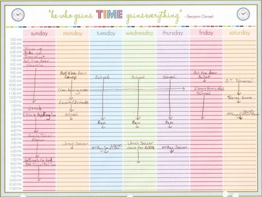 6 best images of printable daily calendar with time slots