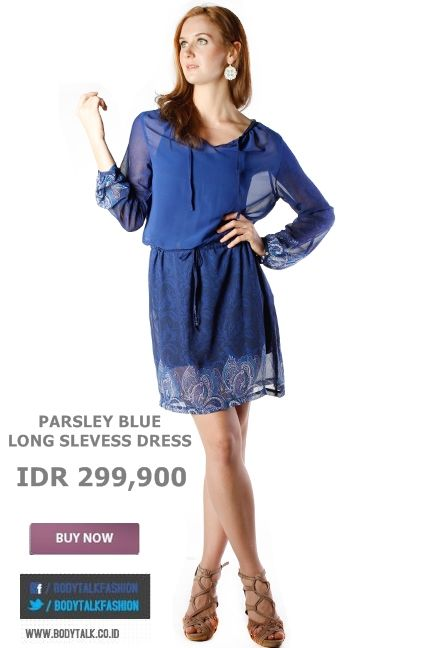 Long Sleeves Dress ? Try this on Ladies and its blue IDR 299,900 >> http://ow.ly/ufhiT