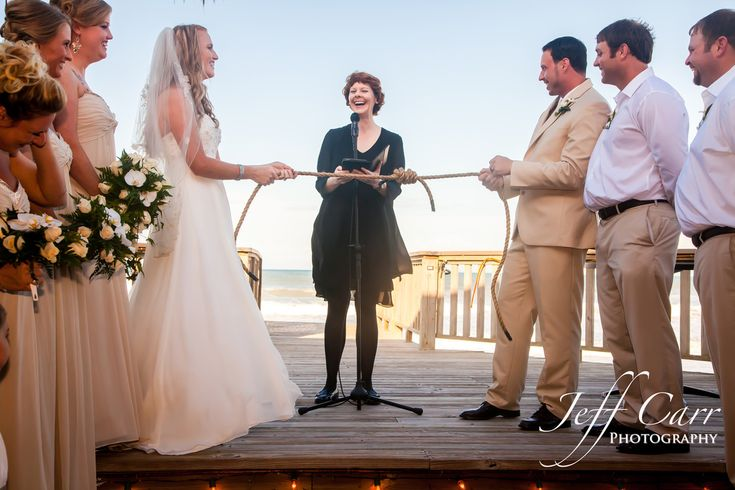 With so few pictures of the fisherman's knot tying ritual around, I thought I'd share an image from one of my actual weddings.