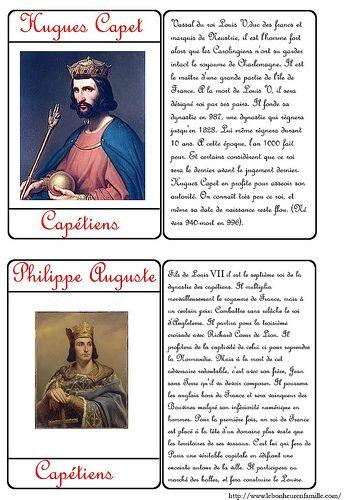 Le bonheur en famille: Carte d'identité des rois Hugues Capet et Philippe...