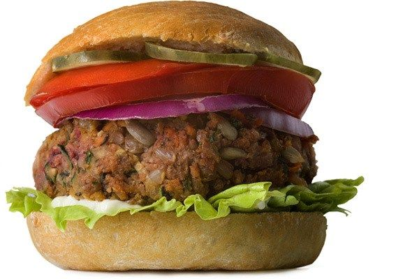 Most Surprising Unhealthy Foods: Veggie Burgers (Image 5 of 20)  Not all veggie patties are created equal, and some of them are healthy, veggie-filled burger alternatives. But most veggie patties are made with a lot of fillers like corn starch, soy, and gluten, which reproduce the texture of a burger but give you a lot of calories without much nutrition. If the first ingredient on your veggie burger isn't a veggie, try another brand.