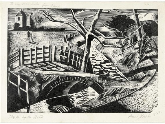 Paul Nash, Dyke by the road (postan 25)