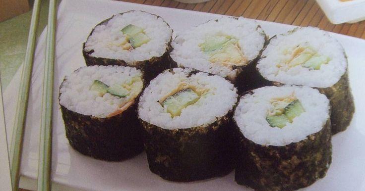 Fabulosa receta para El sushi vegetariano de María. En casa somos unos entusiastas de la cocina oriental, y muy a menudo comemos en algún restaurante japonés porque, la verdad, nunca me he decidido a elaborar ningún plato de esta cocina.  Sin embargo, el día de la inauguración de mi restaurante vegetariano, invitamos a un grupo de amigos y conocidos a tomar una copa, y entre las cosas que preparamos ofrecimos un sushi vegetariano que hizo mi hija.  En principio parece un plato muy…