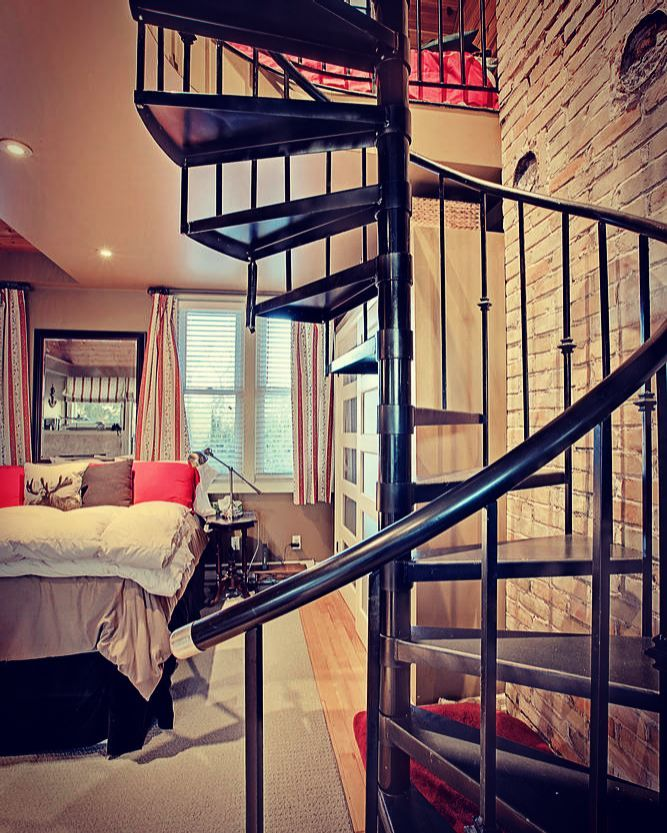 the beauty of a spiral staircase!  what's your favourite interior design feature?  #thejenniferjonesteam #real estate #kwrc #questionoftheday  http://www.56maloneroad.com