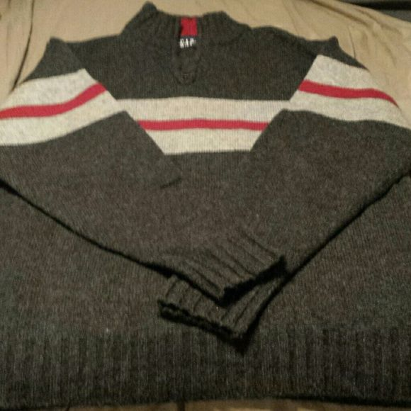 Men's Gap sweater No flaws. Zip neck. Not sure why it looks purplish in pictures but it is not and has no stains. GAP Sweaters V-Necks